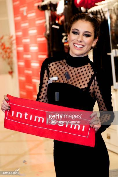 Actress Blanca Suarez attends 'Intimissimi' new flagship store presentation on November 28 2013 in Madrid Spain