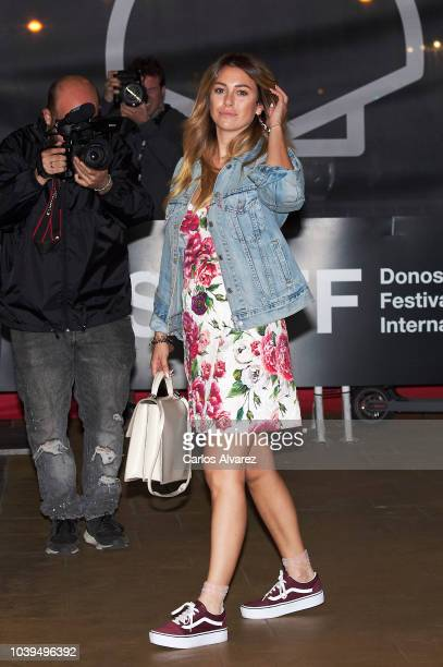 Actress Blanca Suarez is seen arriving at Maria Cristina Hotel during 66th San Sebastian Film Festival on September 24 2018 in San Sebastian Spain