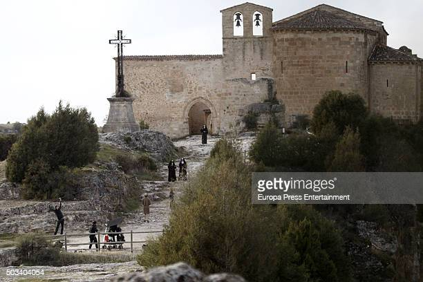 Actress Blanca Suarez is seen during the set filming of 'Lo que escondian sus ojos' tv serie on December 9 2015 in Sepulveda Spain