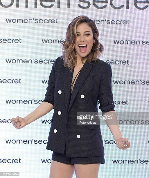 Actress Blanca Suarez launches the Women'Secret 'My Sexy Paradise' campaign at the Womens'Secret showroom on April 20 2016 in Madrid Spain
