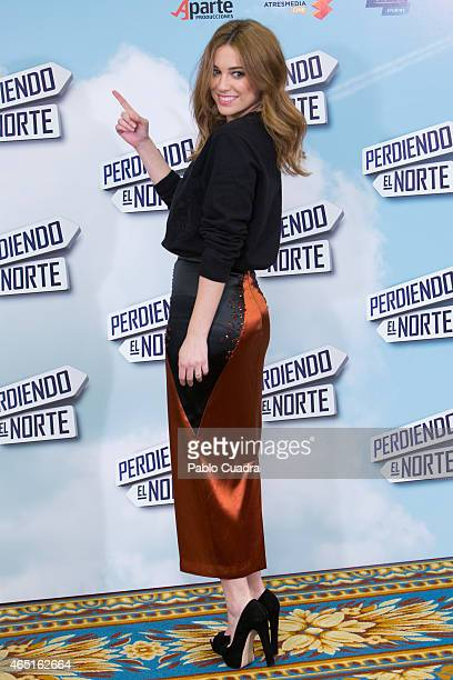 Actress Blanca Suarez poses during a photocall to present 'Perdiendo el Norte' at Intercontinental Hotel on March 3 2015 in Madrid Spain