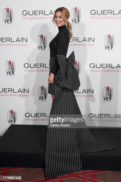 Actress Blanca Suarez presents 'RougeGby Blanca Suarez' at Santo Mauro Hotel on October 09 2019 in Madrid Spain