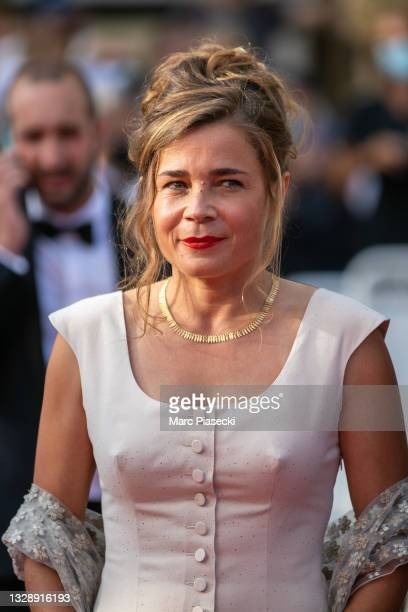 """Actress Blanche Gardin attends the """"France"""" screening during the 74th annual Cannes Film Festival on July 15, 2021 in Cannes, France."""