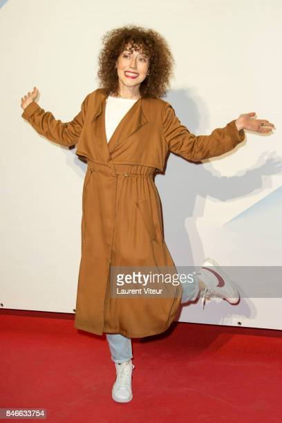 Actress Blandine Bellavoir attends 19th Festival of TV Fiction Opening Ceremony on September 13, 2017 in La Rochelle, France.