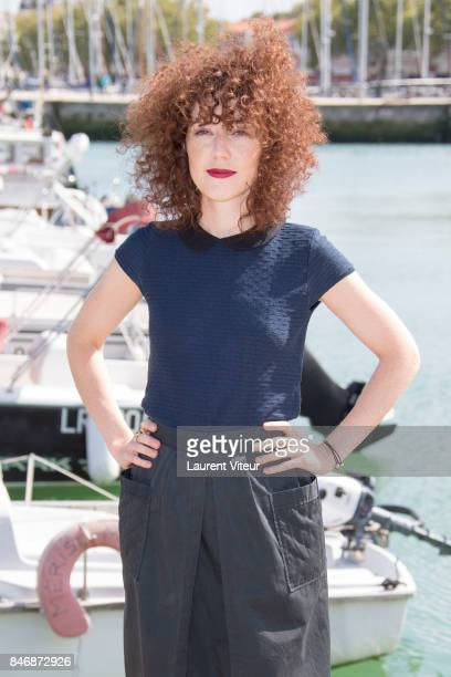 "Actress Blandine Bellavoir attends ""Petits Meutres d'Agatha Christie"" Photocall during 19th Festival Of TV Fiction on September 14, 2017 in La..."
