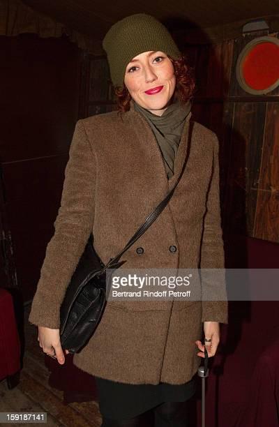 Actress Blandine Bellavoir attends the 'Menelas rebetiko rapsodie' premiere at Le Grand Parquet on January 9 2013 in Paris France