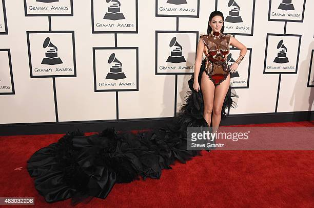 Actress Bleona Qeret attends The 57th Annual GRAMMY Awards at the STAPLES Center on February 8 2015 in Los Angeles California
