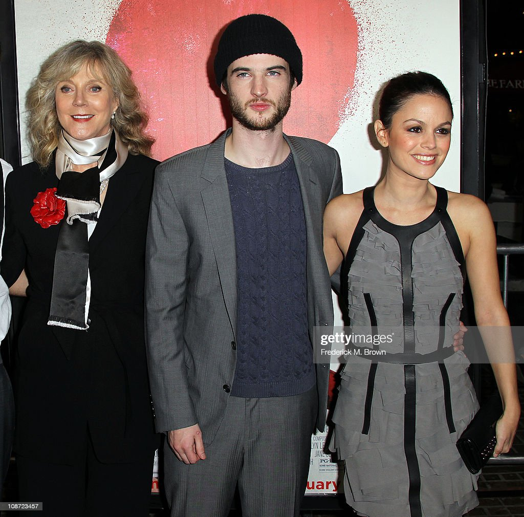 Actress Blythe Danner, actor Tom Sturridge and actress Rachel Bilson attend the premiere of 'Waiting For Forever' at The Pacific Theatres at the Grove on February 1, 2011 in Los Angeles, California.