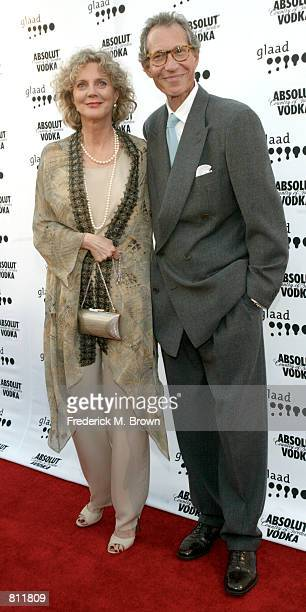 Actress Blythe Danner and her husband Bruce Paltrow attend the 11th Annual GLAAD Media Awards April 13 2002 in Los Angeles CA