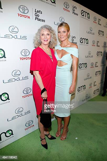 Actress Blythe Danner and honoree Gwyneth Paltrow attend the 25th annual EMA Awards presented by Toyota and Lexus and hosted by the Environmental...
