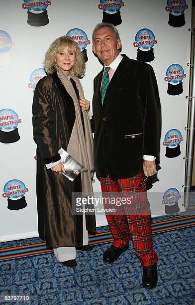 Actress Blythe Danner and Sonny Everett attend the opening night performance of Irving Berlin's White Christmas at Marquis Theatre in the Marriott...