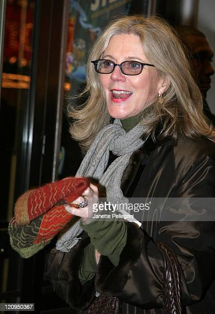 Actress Blythe Danner arrives at the Broadway opening night of 39 Steps at the American Airlines Theater on January 15 2008 in New York City