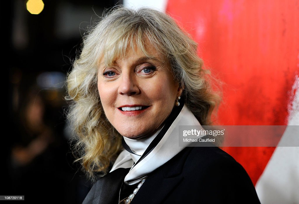 Actress Blythe Danner arrives at the Los Angeles Premiere of 'Waiting For Forever' held at the Pacific Theatres at The Grove on February 1, 2011 in Los Angeles, California.
