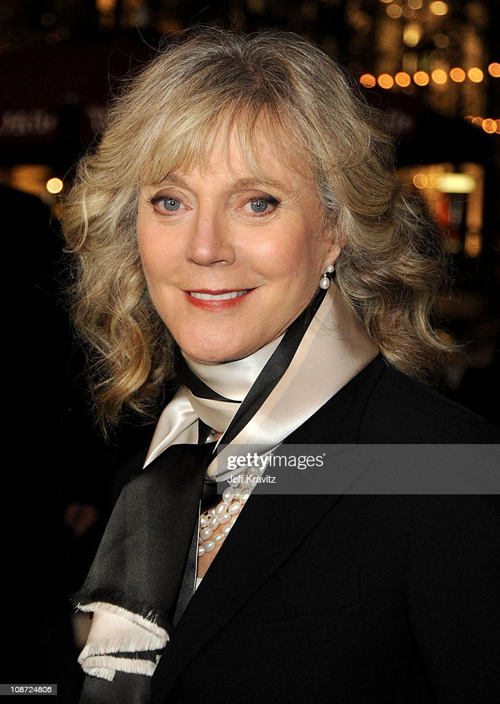 Actress Blythe Danner arrives at the Los Angeles premiere of 'Waiting for Forever' held at Pacific Theaters at the Grove on February 1, 2011 in Los Angeles, California.