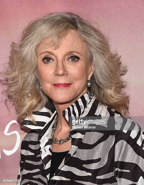 Actress Blythe Danner arrives at the screening of 'I'll See You In My Dreams' at The London Screening Room on May 7 2015 in West Hollywood California