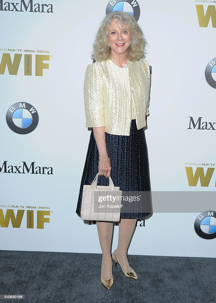 Actress Blythe Danner arrives at Women In Film 2016 Crystal + Lucy Awards Presented By Max Mara And BMW at The Beverly Hilton Hotel on June 15, 2016 in Beverly Hills, California.