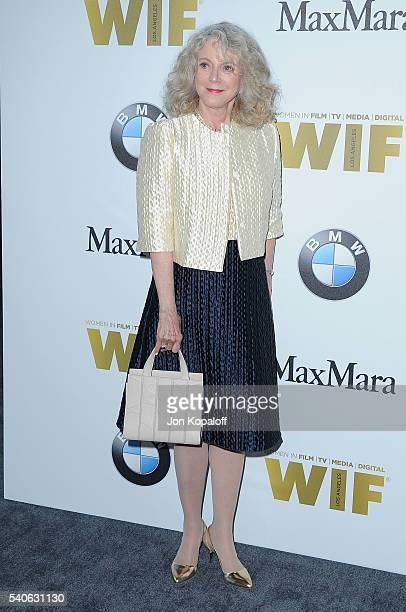 Actress Blythe Danner arrives at Women In Film 2016 Crystal Lucy Awards Presented By Max Mara And BMW at The Beverly Hilton Hotel on June 15 2016 in...