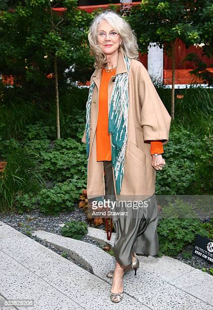 Actress Blythe Danner attends 2016 Highline Spring Benefit at the Spur of the High Line on May 23 2016 in New York City