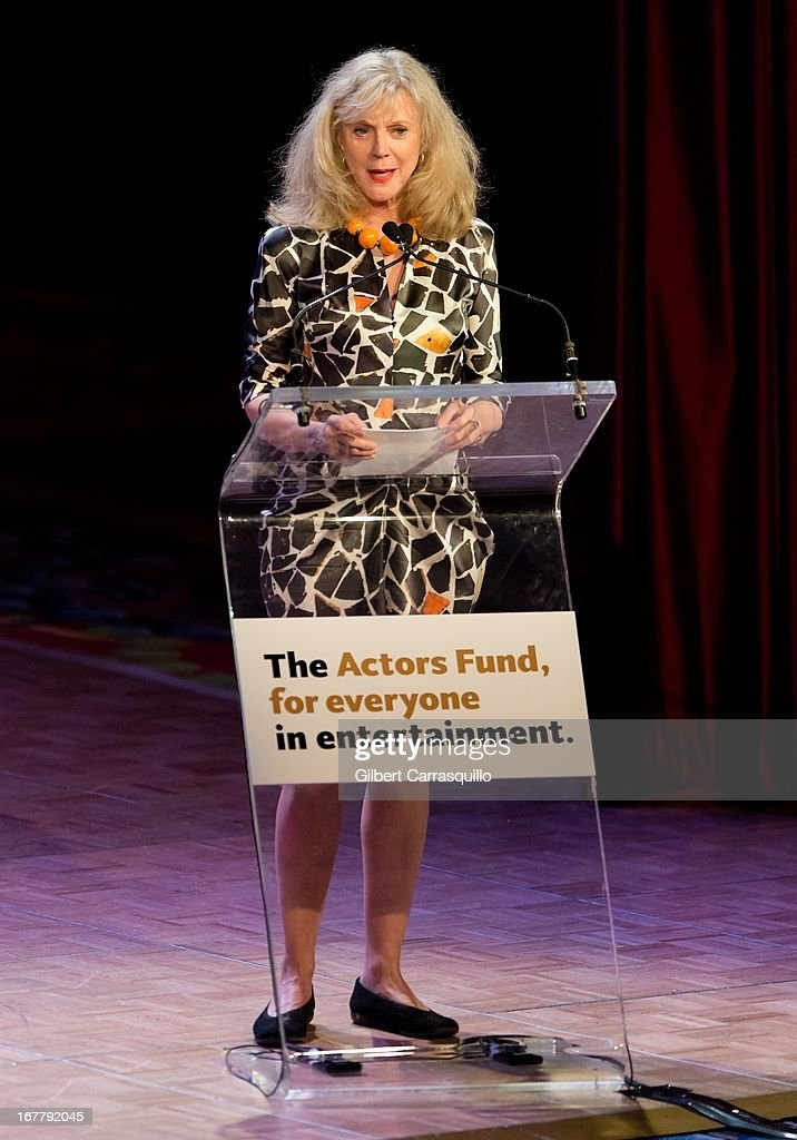 Actress Blythe Danner attends the 2013 Actors Fund's Annual Gala Honoring Robert De Niro at The New York Marriott Marquis on April 29, 2013 in New York City.