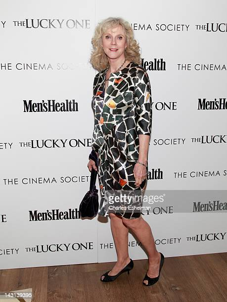 """Actress Blythe Danner attends the Cinema Society & Men's Health host a screening of """"The Lucky One"""" at the Crosby Street Hotel on April 19, 2012 in..."""