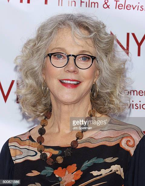 Actress Blythe Danner attends the New York Women In Film And Television's 35th Annual Muse Awards at New York Hilton on December 10 2015 in New York...