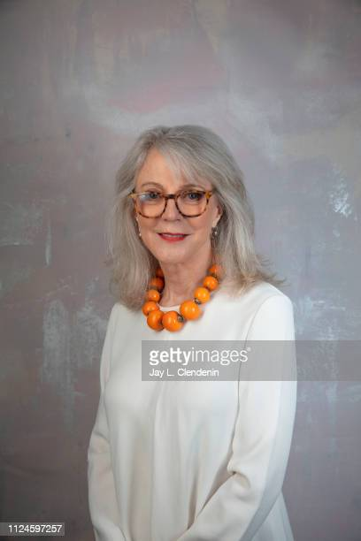Actress Blythe Danner from 'The Tomorrow Man' is photographed for Los Angeles Times on January 29 2019 at the 2019 Sundance Film Festival in Salt...