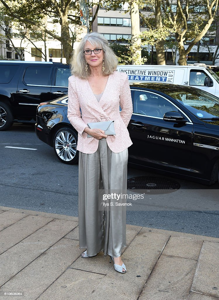 Actress Blythe Danner poses during Jaguar Land Rover Manhattan Presents The Opening Of The Metropolitan Opera's 'Tristan Und Isolde' at The Metropolitan Opera House on September 26, 2016 in New York City.