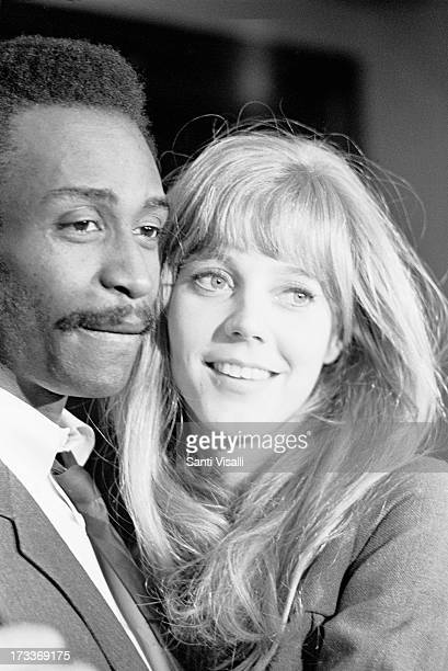 Actress Blythe Danner posing for a portrait with Cleavon Little on June 6 1969 in New York New York