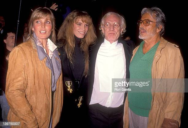 Actress Bo Derek Actress Ann Turkel Actor Richard Harris and Actor John Derek attend 'The Field' Beverly Hills Premiere on December 12 1990 at...