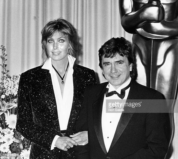 Actress Bo Derek and actor Dudley Moore attend 61st Annual Academy Awards on March 29 1989 at the Shrine Auditorium in Los Angeles California