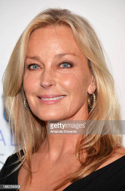 Actress Bo Derek arrives at the 2013 International Women's Media Foundation's Courage In Journalism Awards at The Beverly Hills Hotel on October 29...