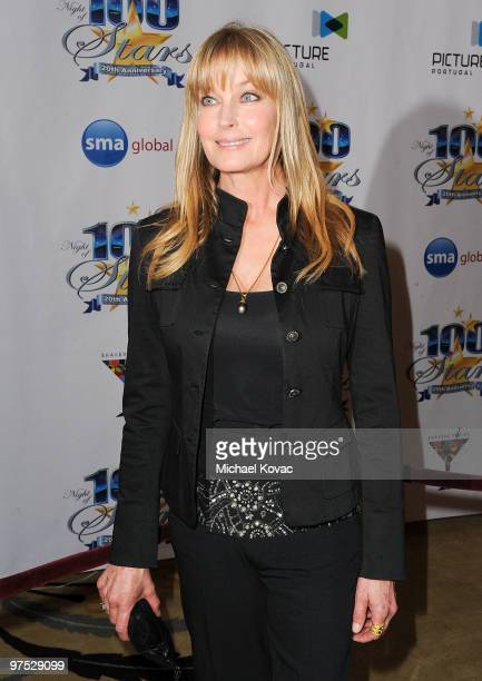 Actress Bo Derek arrives at the 20th Annual Night of 100 Stars Awards Gala at Beverly Hills Hotel on March 7 2010 in Beverly Hills California