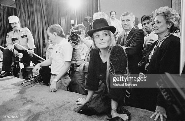 Actress Bo Derek at the aftermath of the Sugar Ray Leonard versus Marvin Hagler fight Caesars Palace Las Vegas 6th April 1987
