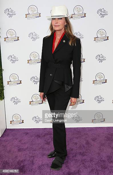 Actress Bo Derek attends the 2014 Breeders' Cup World Championships at Santa Anita Park on November 1 2014 in Arcadia California