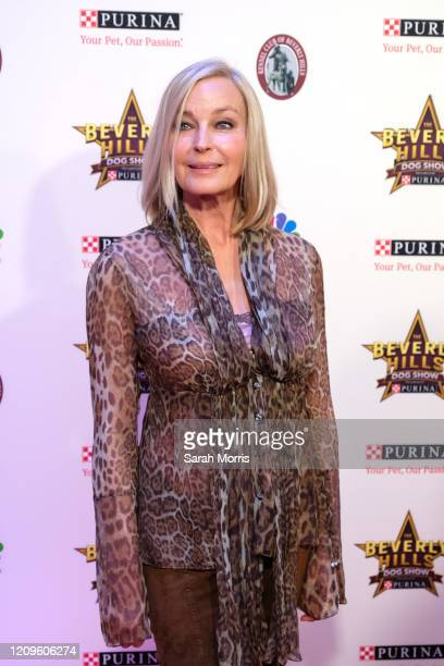 Actress Bo Derek attends the 2020 Beverly Hills Dog Show at the Los Angeles County Fairplex on February 29 2020 in Pomona California