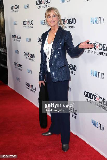 Actress Bo Derek attends the God's Not Dead A Light in Darkness premiere at American Cinematheque's Egyptian Theatre on March 20 2018 in Hollywood...