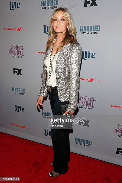 Actress Bo Derek attends the New York Series Premiere of 'SexDrugsRockRoll' at the SVA Theater on July 14 2015 in New York City