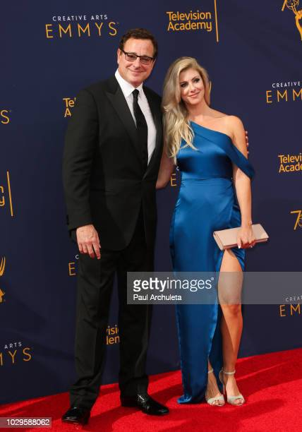 Actress Bob Saget and Kelly Rizzo attend the 2018 Creative Arts Emmy Awards at Microsoft Theater on September 8 2018 in Los Angeles California