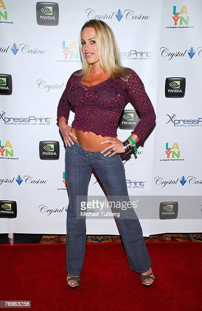 Actress Bobbi Billard arrives at the 2nd Annual All In For The Kids benefit celebrity poker tournament at the Crystal Casino on September 22 2007 in...