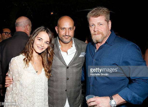 Actress Bojana Novakovic De Re Gallery owner Steph Sebbag and actor Michael Cudlitz attend Best Buddies The Art of Friendship Benefit Photo Auction...