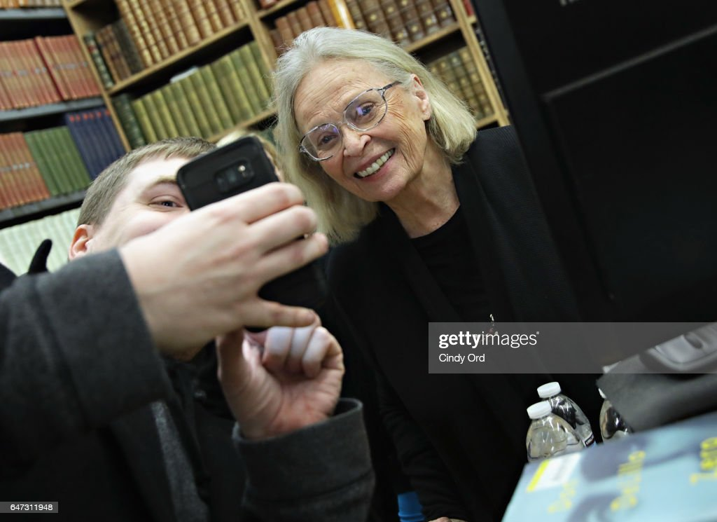 Actress Bonnie Bartlett attends as her husband William Daniels signs copies of 'There I Go Again: How I Came To Be Mr. Feeny, John Adams, Dr. Craig, KITT and Many Others' at Strand Bookstore on March 2, 2017 in New York City.