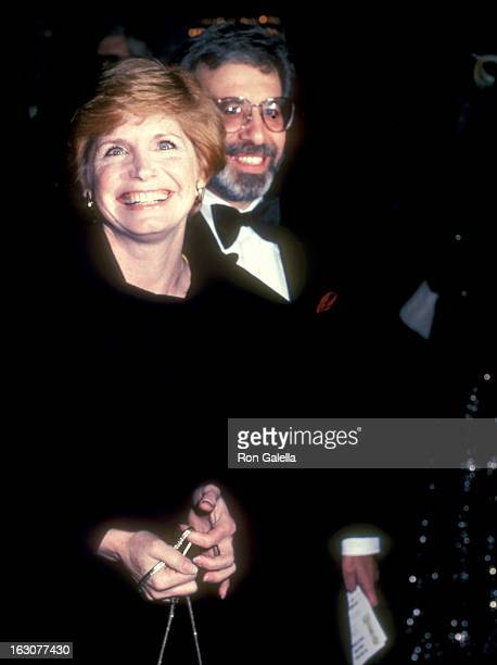 Actress Bonnie Franklin and husband Marvin Minoff attend the 40th Annual Golden Globe Awards on January 29 1983 at Beverly Hilton Hotel in Beverly...