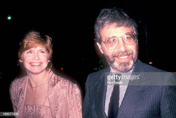 Actress Bonnie Franklin and husband Marvin Minoff attend the WrapUp Party for the Eighth Season of 'One Day at a Time' on March 20 1983 at Chasen's...