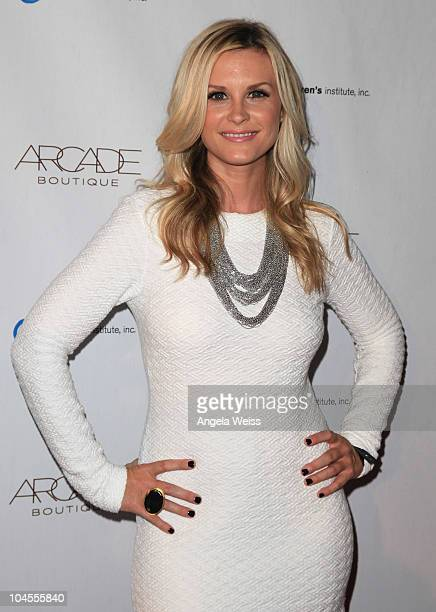Actress Bonnie Somerville arrives at ARCADE Boutique's 'The Autumn Party' benefiting Children's Institute, Inc at The London West Hollywood Hotel on...