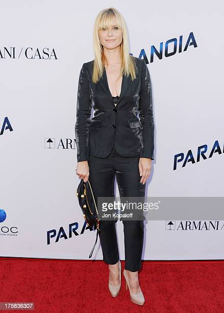 Actress Bonnie Somerville arrives at the Los Angeles Premiere 'Paranoia' at DGA Theater on August 8 2013 in Los Angeles California
