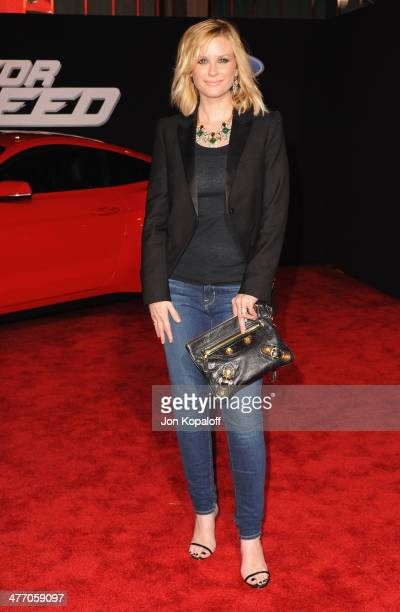 Actress Bonnie Somerville arrives at the Los Angeles Premiere 'Need For Speed' at TCL Chinese Theatre on March 6 2014 in Hollywood California