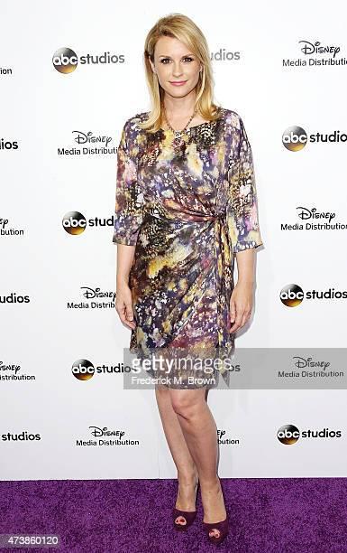 Actress Bonnie Somerville attends Disney Media Disribution International Upfronts at Walt Disney Studios on May 17 2015 in Burbank California