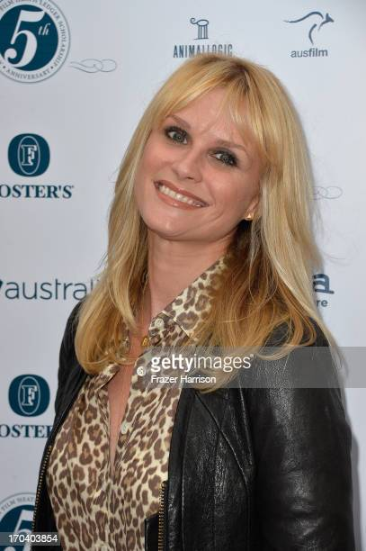 Actress Bonnie Somerville attends the Australians In Film and Heath Ledger Scholarship Host 5th Anniversary Benefit Dinner on June 12 2013 in Los...