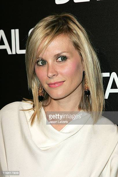Actress Bonnie Somerville attends the Details Mavericks of 2008 Cocktail Party on March 20 2008 in Beverly Hills California