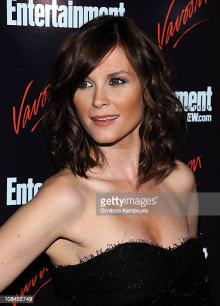 Actress Bonnie Somerville attends the Entertainment Weekly Vavoom Annual Upfront Party at the Bowery Hotel on May 13 2008 in New York City